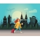 A Girl with a Suitcase and Walking - GraphicRiver Item for Sale