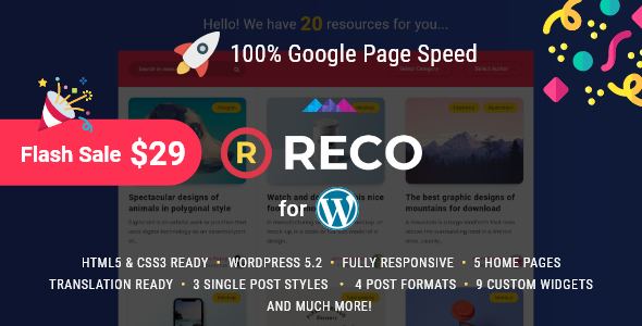 Reco - Minimal Theme for Freebies