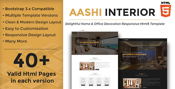 Aashi Interior - Responsive HTML Template for Home and Office Decoration