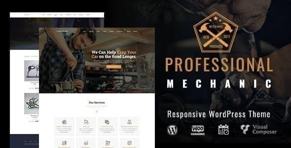 Mechanic    Auto Repair WordPress Theme