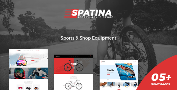 Spatina – Sports Store WooCommerce WordPress Theme