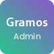Gramos - Responsive Admin Dashboard Template - ThemeForest Item for Sale
