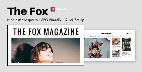 The Fox - Contemporary Magazine Theme For Creators