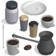 Coffee Set in 3D - GraphicRiver Item for Sale