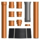 Set of Various Plastic Pipes and Connectors - GraphicRiver Item for Sale