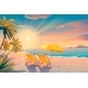 Palm and Tropical Beach - GraphicRiver Item for Sale