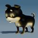 Puppy 3D model - 3DOcean Item for Sale