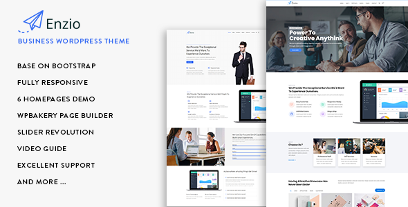Enzio - Responsive Business WordPress Theme