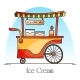 Ice Cream Cart or Wagon Kiosk for Ice-Cream - GraphicRiver Item for Sale
