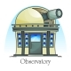 Planetarium Building with Telescope in Dome - GraphicRiver Item for Sale