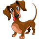 Dachshund Confused Puppy Dog Cartoon Character Vector Illustration - GraphicRiver Item for Sale