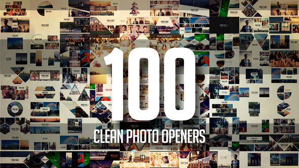 100 Clean Photo Openers - Logo Reveal Pack