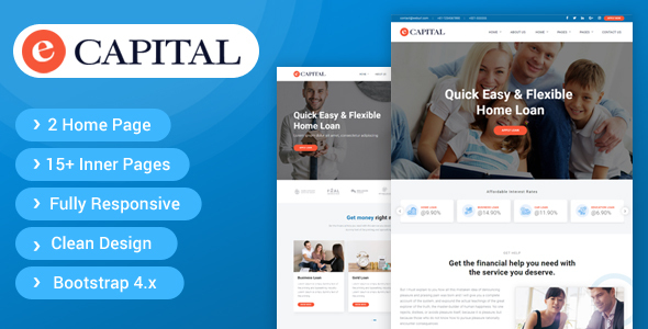 eCapital - Loan Company Responsive HTML5 Template