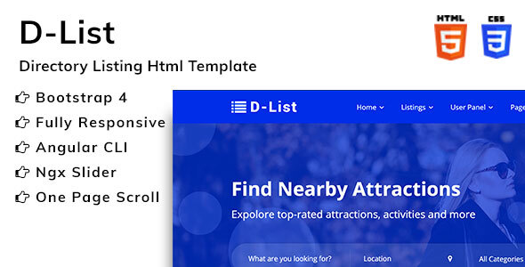 HTML Website Templates from ThemeForest (Page 5)