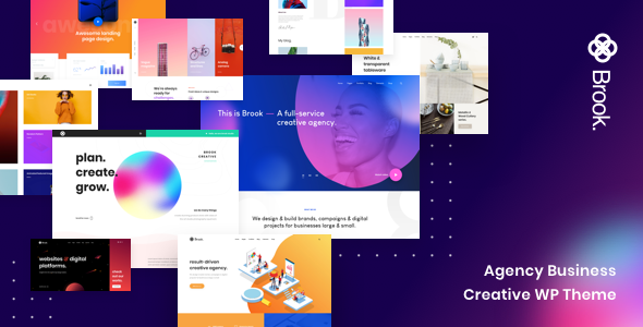 Brook - Agency Business Creative WordPress Theme