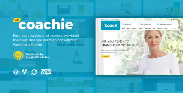 Coachie - WordPress Theme For Coaching Business