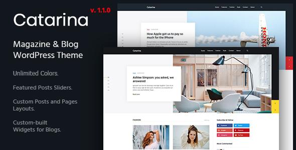 Catarina - Personal Blog & Magazine WordPress Theme