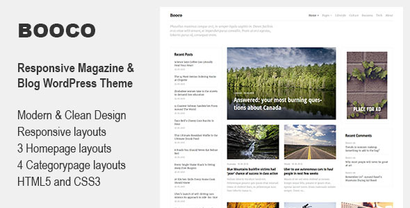 Booco - Responsive Magazine & Blog WordPress Theme