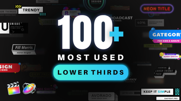 Lower Thirds Pack | Final Cut free download Lower Thirds Pack