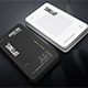 Vertical BW Creative Business Card - GraphicRiver Item for Sale