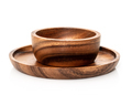 Round wooden bowl on white_ - PhotoDune Item for Sale