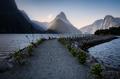 Sun rays on Milford Sound - PhotoDune Item for Sale