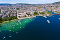 Aerial view of Zurich  city in Switzerland - PhotoDune Item for Sale