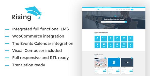 Rising –  LMS WordPress Theme