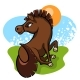 Cheerful Little Horse in the Clearing - GraphicRiver Item for Sale