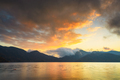 Lake Chuzenji in Nikko, Japan at sunset. - PhotoDune Item for Sale