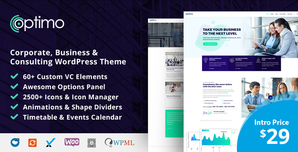 Optimo - Responsive Multi-Purpose WordPress Theme