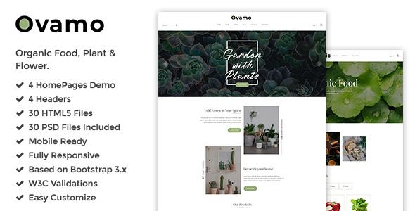 Ovamo - Organic Store HTML5 Template