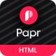 Papr - News Magazine Website Template - ThemeForest Item for Sale