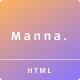 Manna - Creative Agency - ThemeForest Item for Sale