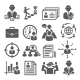 Head Hunting Icons on White Background - GraphicRiver Item for Sale