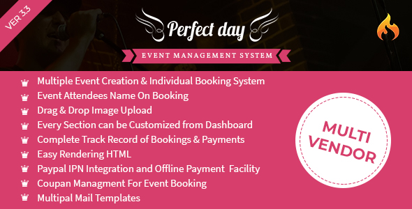 Event Management System - Perfect Day Download