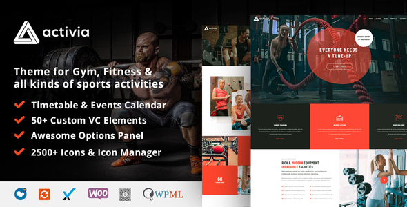 Activia -  Gym and Fitness WordPress Theme