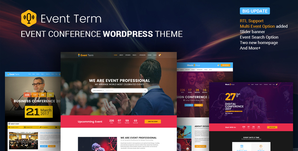 Event Term- Multiple Conference WordPress Theme