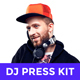 Modern DJ & Producer Press Kit / Rider / Resume PSD Template - GraphicRiver Item for Sale