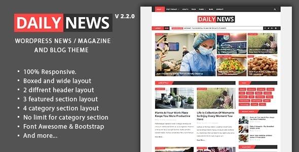 Daily News - WordPress Magazine And Blog Theme