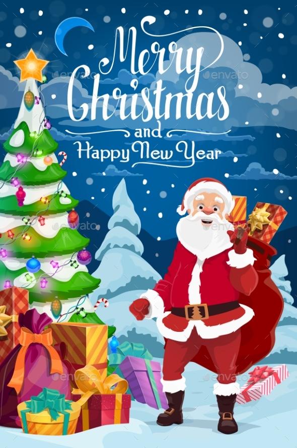 New Year and Christmas Holidays Santa Claus