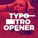 Typo Intro Opener - VideoHive Item for Sale