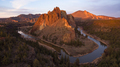 Aerial View Smith Rock Tuft and Basalt Cliffs Crooked River Sunset - PhotoDune Item for Sale