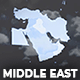 Map of Middle East with Countries - Middle East Map Kit - VideoHive Item for Sale