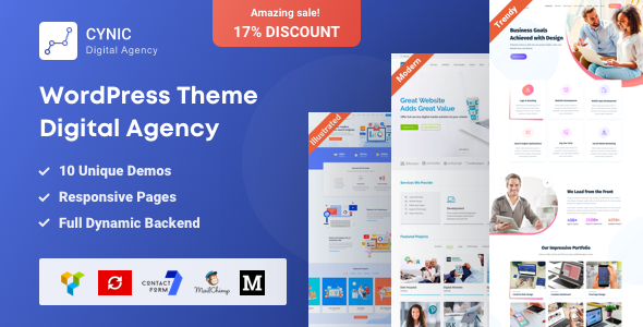 Digital Agency WordPress Theme - Cynic