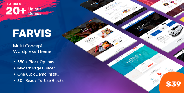 Farvis - Multipurpose WordPress Theme