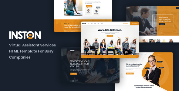 Inston - Virtual Assistant Services HTML Template