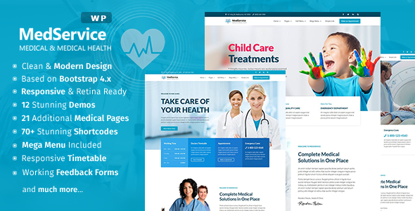MedService - Medical Clinic Hospital WordPress Theme