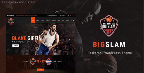 Big Slam Sport Clubs - Basketball WordPress