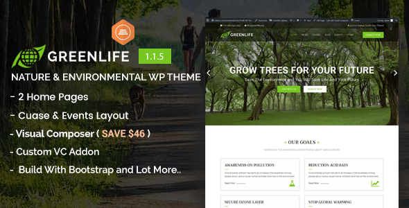 Greenlife - Nature & Environmental WP Theme